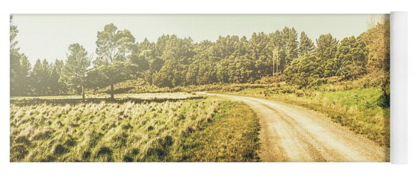 Old-fashioned Country Lane Yoga Mat