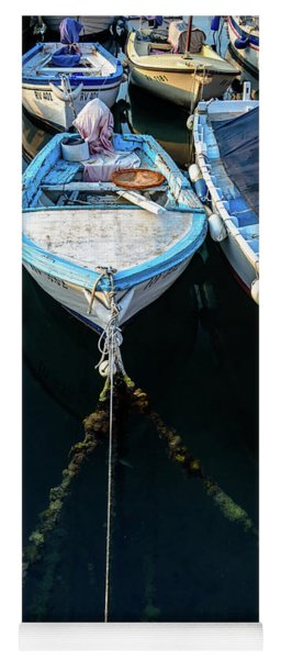 Old Fishing Boats Of The Adriatic Yoga Mat