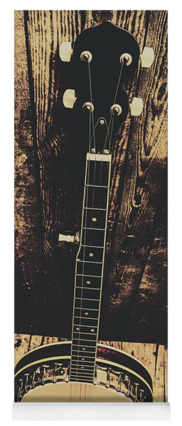 Old Folk Music Banjo Yoga Mat