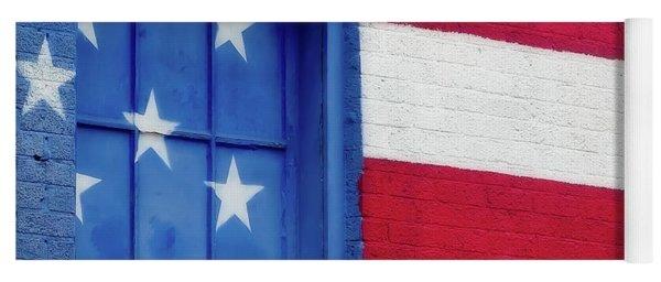 Old Glory, American Flag Mural, Street Art Yoga Mat