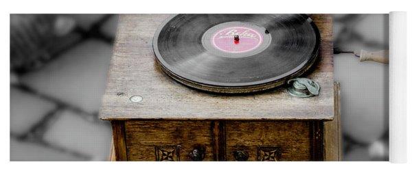 Old Gramophone Yoga Mat