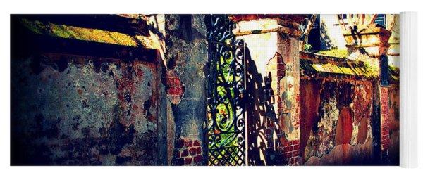 Old Iron Gate In Charleston Sc Yoga Mat
