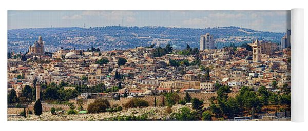 Old Jerusalem Panorama Yoga Mat