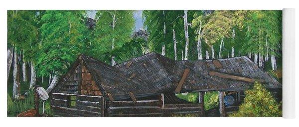 Old Log Cabin And   Memories Yoga Mat