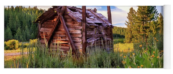 Old Lumber Mill Cabin Yoga Mat