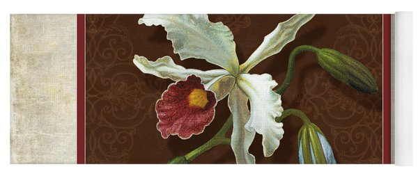Old Masters Reimagined - Cattleya Orchid Yoga Mat
