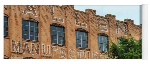 Yoga Mat featuring the photograph Old Mill Building In Buford by Doug Camara