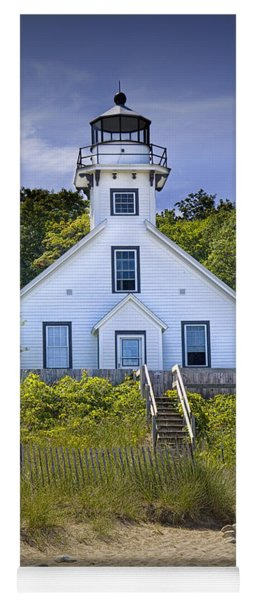 Old Mission Point Lighthouse In Grand Traverse Bay Michigan Number 2 Yoga Mat