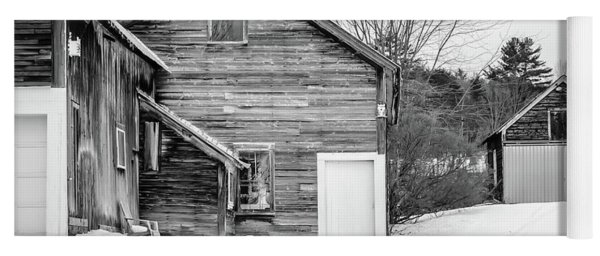 Old New England Barns In Winter Yoga Mat