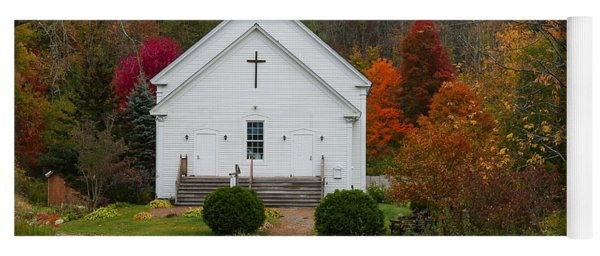 Old New England Church Yoga Mat