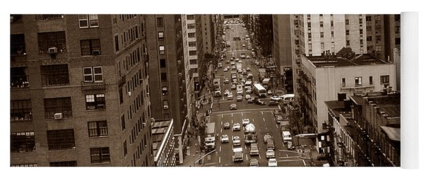 Old New York Photo - 10th Avenue Traffic Yoga Mat