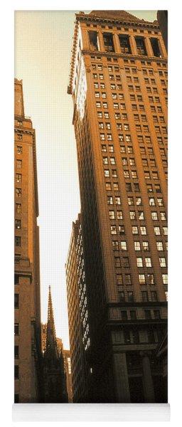 Old New York Wall Street Yoga Mat