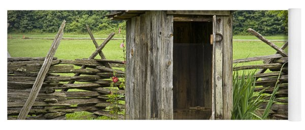 Old Outhouse On A Farm In The Smokey Mountains Yoga Mat