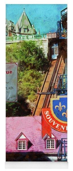 Old Quebec City Funicular Yoga Mat