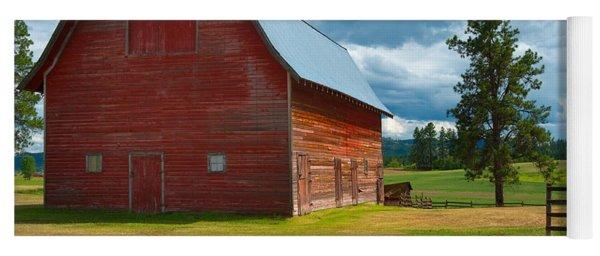 Old Red Big Sky Barn  Yoga Mat