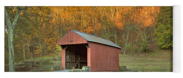 Old Red Or Walkersville Covered Bridge Yoga Mat