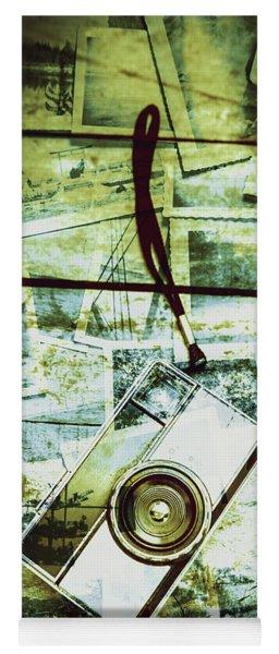 Old Retro Film Camera In Creative Composition Yoga Mat