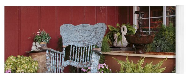 Yoga Mat featuring the photograph Old Rockin' Chair by Susan Rissi Tregoning