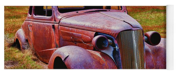 Old Rusty Car Bodie Ghost Town Yoga Mat