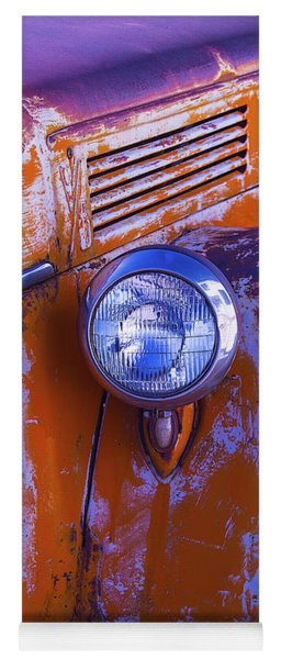 Old Rusty Truck Headlight Yoga Mat