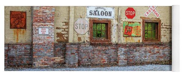 Old Saloon Wall Yoga Mat