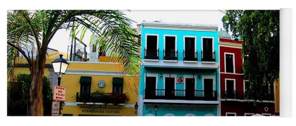 Yoga Mat featuring the photograph Old San Juan Pr by Michelle Dallocchio