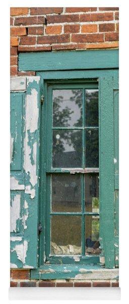 Old Shuttered Door Yoga Mat