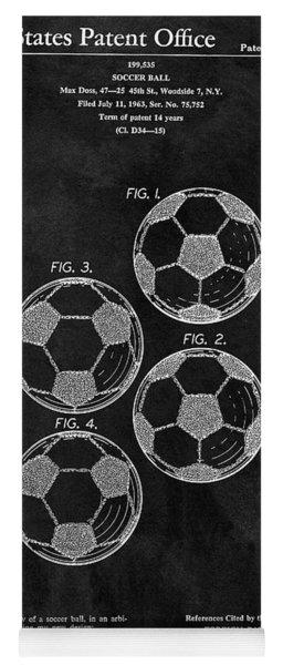 Old Soccer Ball Patent Yoga Mat
