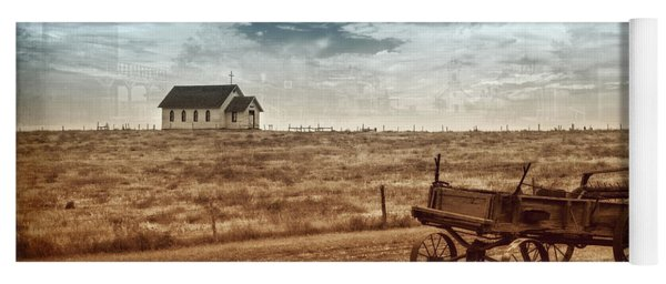 Yoga Mat featuring the photograph Old South Dakota Town by Sharon Seaward