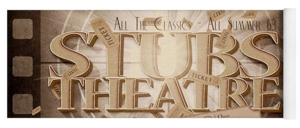 Old Stubs Theatre Advert Yoga Mat