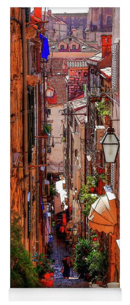 Old Town Dubrovniks Inner Passages Yoga Mat
