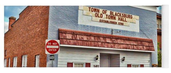 Old Town Hall Blacksburg Virginia Est 1798 Yoga Mat