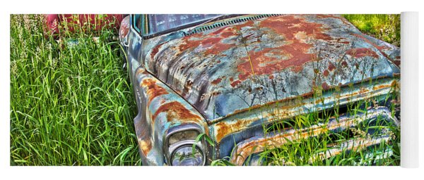 001 - Old Trucks Yoga Mat