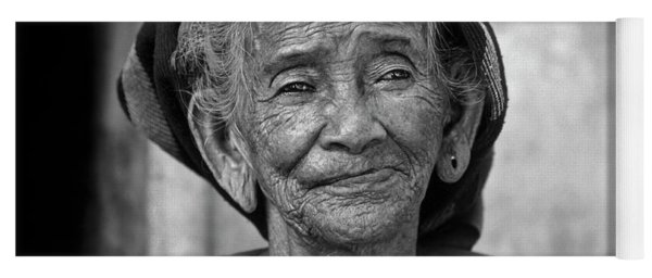 Old Vietnamese Woman Yoga Mat