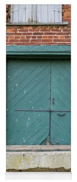 Old Warehouse Loading Door Yoga Mat