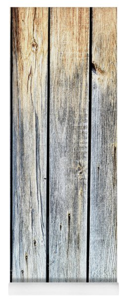 Old Weathered Wood Planks Yoga Mat