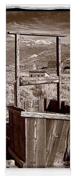 Old Well Bodie Ghost Twon California Yoga Mat