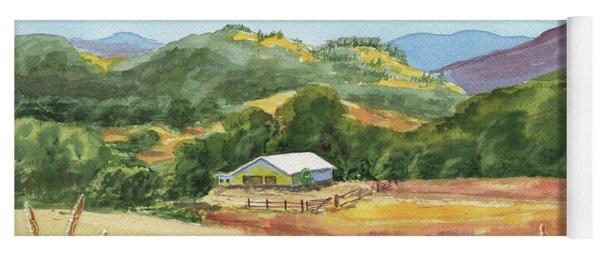 Old White Barn At Sonoma Mountains Ranch Yoga Mat