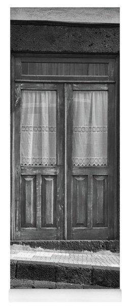 Old Wooden House Door Yoga Mat
