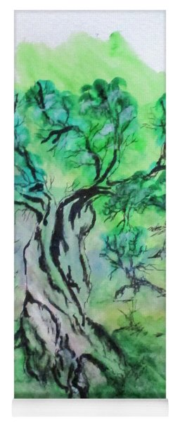 Olive Tree Grove Yoga Mat