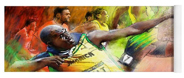 Olympics 100 M Gold Medal Usain Bolt Yoga Mat