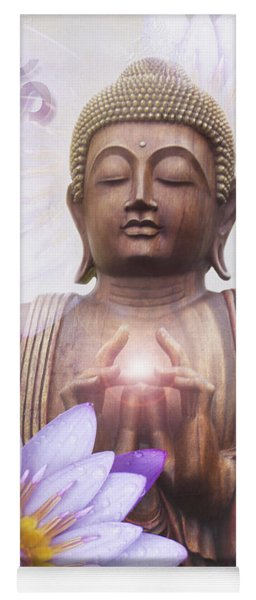 Om Mani Padme Hum - Buddha Lotus Yoga Mat