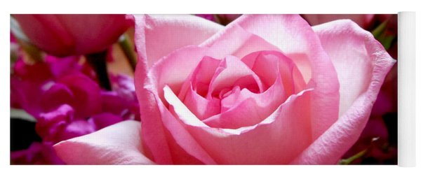 Ombre Pink Rose Bouquet Yoga Mat