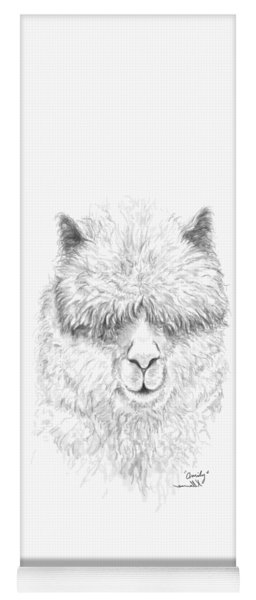 Yoga Mat featuring the drawing Omily by K Llamas