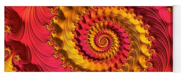 Yoga Mat featuring the digital art On Being Bold And Beautiful by Susan Maxwell Schmidt