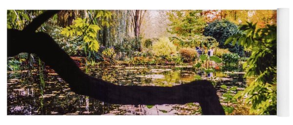 On Oscar - Claude Monet's Garden Pond  Yoga Mat