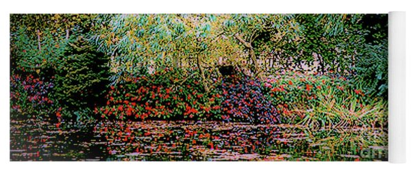 Reflection On, Oscar - Claude Monet's Garden Pond Yoga Mat