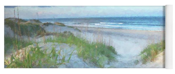 On The Beach Watercolor Yoga Mat