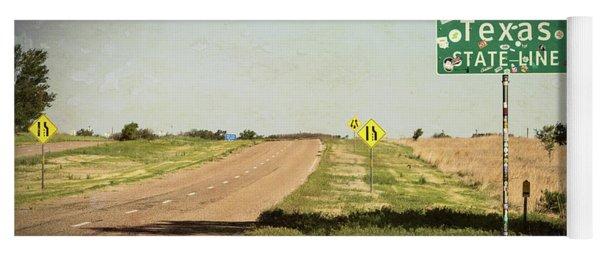 On The Edge Of Paradise - Texas Route 66 Yoga Mat