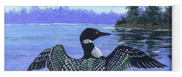 On The Lake Sketch Yoga Mat
